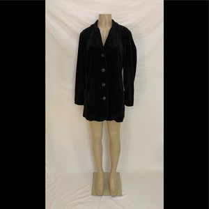 J. Jill Size M Black Corduroy Three Button Blazer